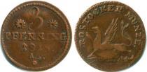 Продать Монеты Росток 3 пфеннига 1815 Медь