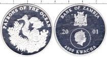 Продать Монеты Замбия 4000 квач 2001 Серебро