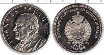 Каталог монет - монета  Мальта 10 лир