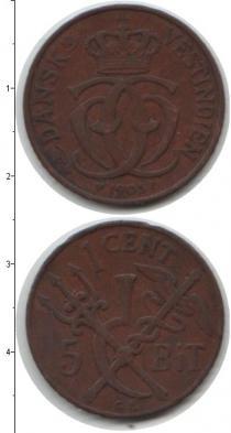 Каталог монет - монета  Датская Вест-Индия 5 бит