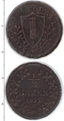 Каталог монет - монета  Швейцария 1/2 крейцера
