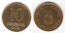 Каталог монет - монета  Аргентина 10 сентаво