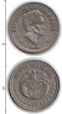 Каталог монет - монета  Колумбия 2 сентаво