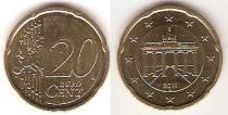Каталог монет - монета  Германия 20 евроцентов