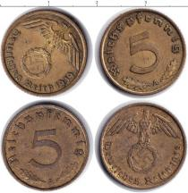 Каталог монет - монета  Третий Рейх 5 пфеннигов