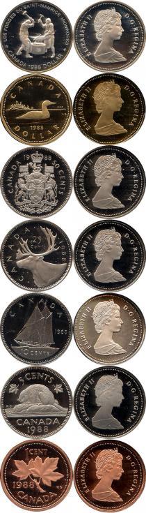 Каталог - подарочный набор  Канада Памятный набор 1988 года