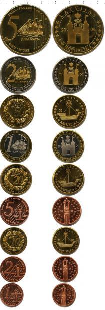 Продать Подарочные монеты Латвия Пробный евронабор 2004 2004