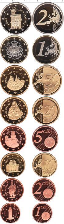 Каталог - подарочный набор  Сан-Марино Выпуск евромонет 2008 года