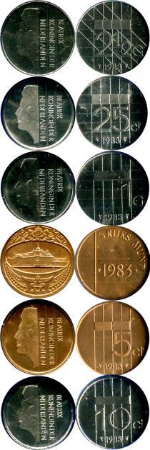 Каталог - подарочный набор  Нидерланды Набор монет 1983 года