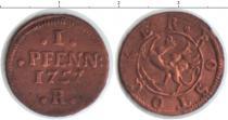 Продать Монеты Росток 1 пфенниг 1757 Медь