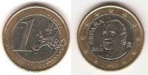 Каталог монет - монета  Испания 1 евро