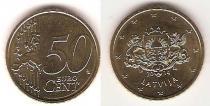 Каталог монет - монета  Латвия 50 евроцентов