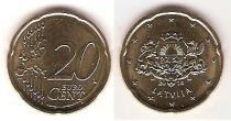 Каталог монет - монета  Латвия 20 евроцентов