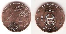 Каталог монет - монета  Латвия 2 евроцента