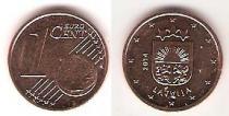 Каталог монет - монета  Латвия 1 евроцент