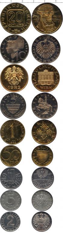 Каталог - подарочный набор  Австрия Набор монет 1982