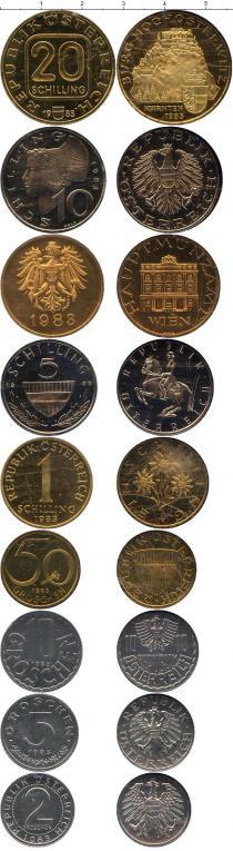 Каталог - подарочный набор  Австрия Набор монет 1983