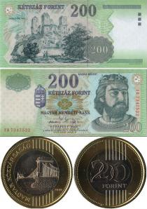Каталог - подарочный набор  Венгрия Банкнота+монета