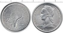 Каталог монет - монета  Территория афаров и исса 2 франка
