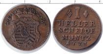 Каталог монет - монета  Ханау-Лихтенберг 1 хеллер