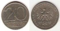 Каталог монет - монета  Польша 20 злотых