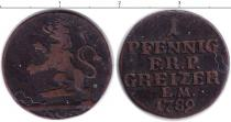 Каталог монет - монета  Рейсс-Оберграйц 1 пфенниг