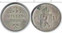 Каталог монет - монета  Норвегия 3 скиллинга