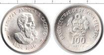 Каталог монет - монета  Перу 100 инти