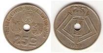 Каталог монет - монета  Бельгия 25 сентим