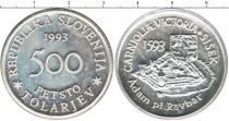 Каталог монет - монета  Словения 500 толаров