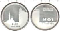 Каталог монет - монета  Словения 5000 толаров