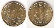Каталог монет - монета  Бельгия 10 евроцентов