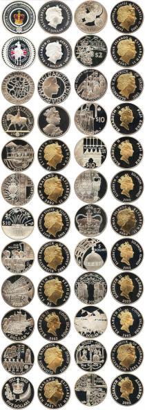 Каталог - подарочный набор  Великобритания Золотой юбилей правления Елизаветы