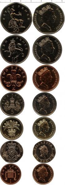 Каталог - подарочный набор  Великобритания Регулярный выпуск монет 1989 года