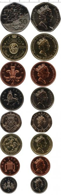 Каталог - подарочный набор  Великобритания Выпуск монет 1994 года