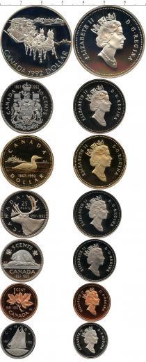 Каталог - подарочный набор  Канада Выпуск монет 1992 в качестве Пруф
