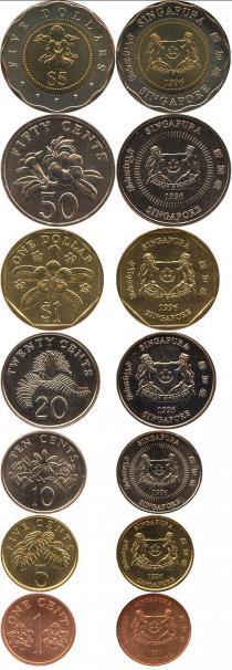 Каталог - подарочный набор  Сингапур Выпуск монет 1996 года