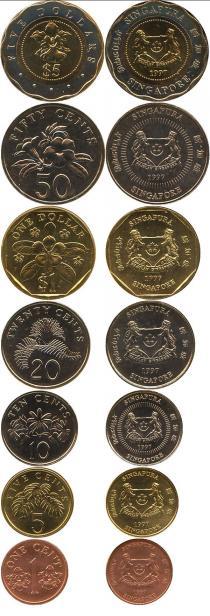 Каталог - подарочный набор  Сингапур Выпуск монет 1997 года