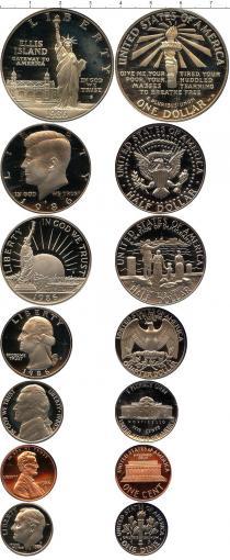 Каталог - подарочный набор  США Выпуск монет 1986 года
