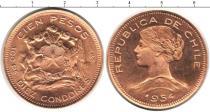 Каталог монет - монета  Чили 100 песо