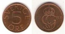 Каталог монет - монета  Швеция 5 эре