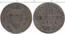 Каталог монет - монета  Саксен-Кобург-Саалфелд 3 крейцера