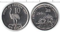 Каталог монет - монета  Эритрея 1 цент