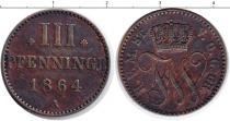 Каталог монет - монета  Шаумбург-Липпе 3 пфеннига