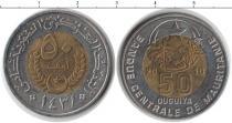 Каталог монет - монета  Мавритания 50 угий