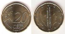 Каталог монет - монета  Нидерланды 20 евроцентов