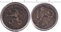 Каталог монет - монета  Чехословакия 1 крона