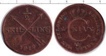 Каталог монет - монета  Швеция 1/2 скиллинга