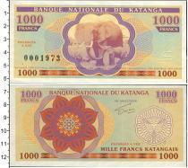 Каталог монет - монета  Катанга 1000 франков