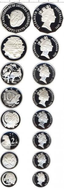 Каталог - подарочный набор  Австралия Выпуск монет 1991